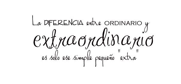la differencia entre ordinario y extraordinario